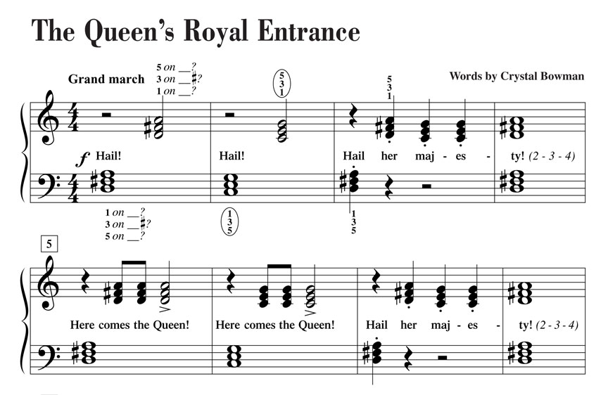 Level 2A p56 The Queen's Royal Entrance excerpt