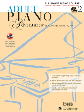 Adult Piano Adventures® All-in-One Course Book 2 with CD/DVD Set