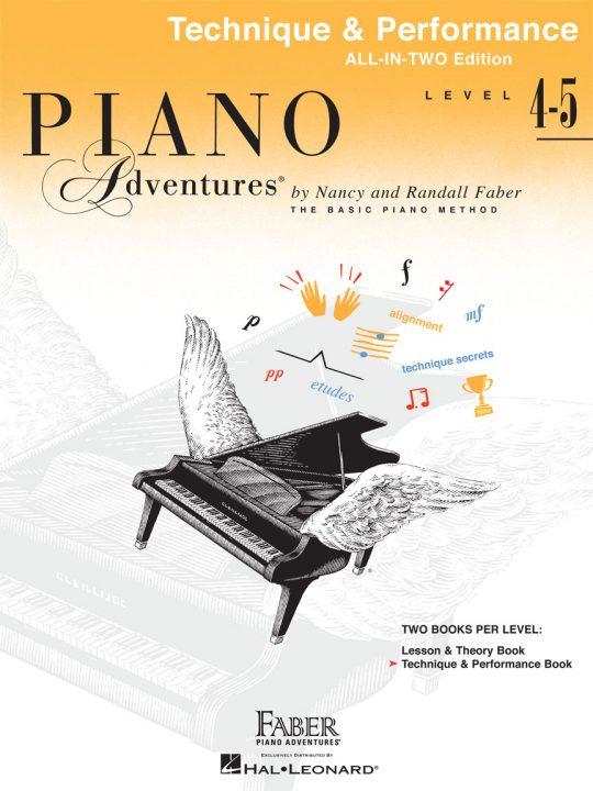 Piano Adventures Level 4-5 Technique & Performance Book